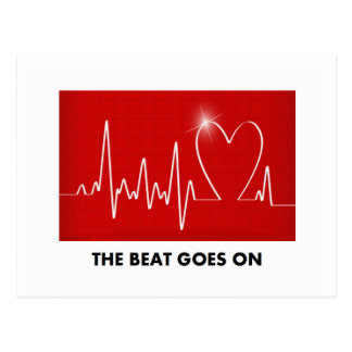 The Beat Goes On - Funny Post-Heart Attack Postcard