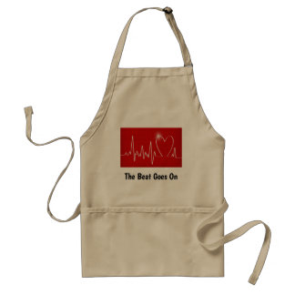The Beat Goes On - Funny Post-Heart Attack Standard Apron