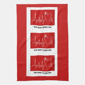 The Beat Goes on - Funny Post-Heart Attack Tea Towel