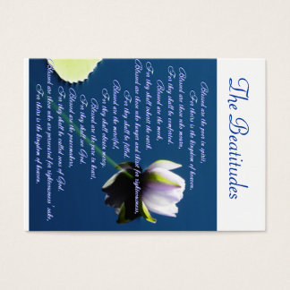 The Beatitudes sharing Business Card