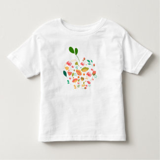 The beautiful Colorful Apple Flowers Pattern Toddler T-Shirt