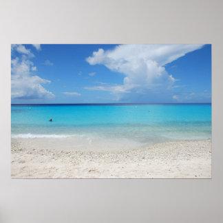 The beautiful Kenepa Grandi beach of Curacao Poster
