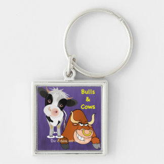 The beautiful one and the beast Cowstyle Silver-Colored Square Key Ring