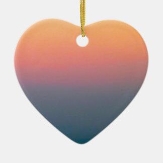 The Beautiful Sky Ceramic Heart Decoration