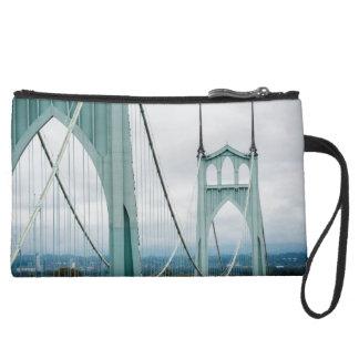 The beautiful St. John's Bridge Wristlet Clutch