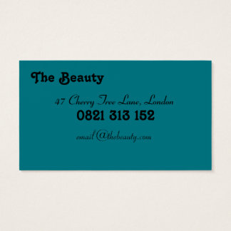 The beauty business cards