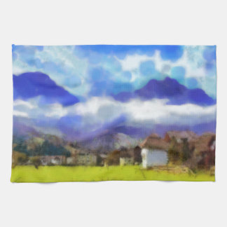 The beauty of a Swiss landscape Tea Towel