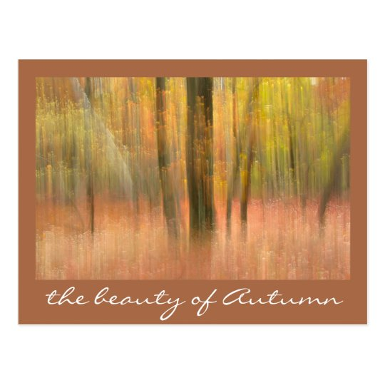 the beauty of Autumn Postcard