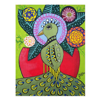 The Beauty of Difference Peacock Art Postcard