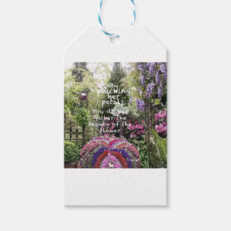 The beauty of flowers of garden is a great scenery gift tags