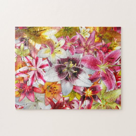 The beauty of lilies jigsaw puzzle
