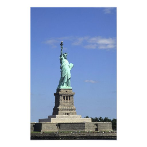 The beauty of the famous Statue of Liberty on Photo Art