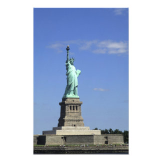 The beauty of the famous Statue of Liberty on Photograph