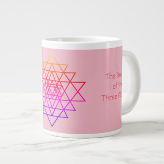"""the beauty of the three worlds"" Jumbo Mug"