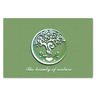 The beauty or nature tissue paper