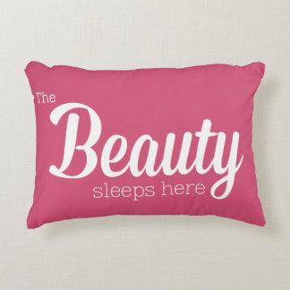 The Beauty Sleeps Here Decorative Cushion