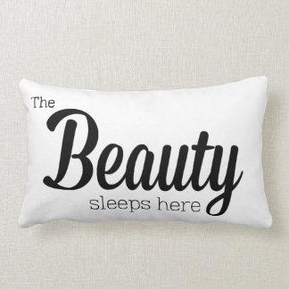 The Beauty Sleeps Here Lumbar Pillow