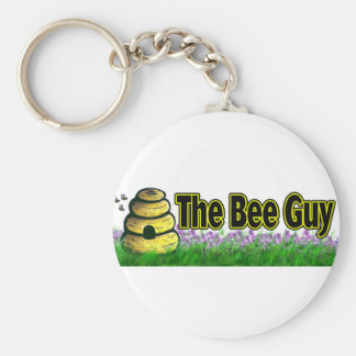 the bee guy basic round button key ring