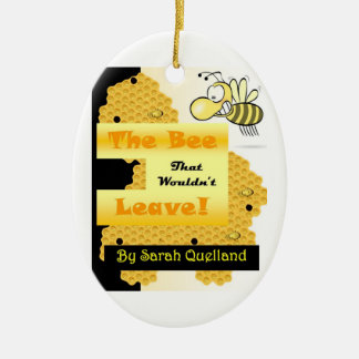 The Bee That Wouldn't Leave Ceramic Oval Decoration