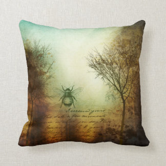 The Bee Trees Throw Pillow