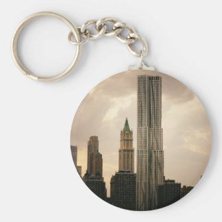 The Beekman Tower and Woolworth Building Basic Round Button Key Ring