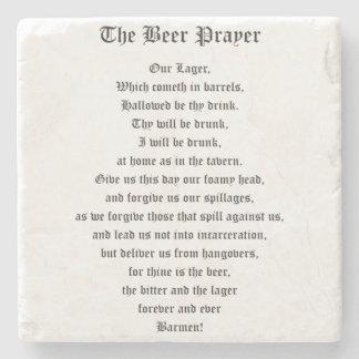 The Beer Prayer Stone Beverage Coaster