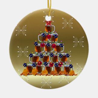 The Beer Tree Ceramic Ornament