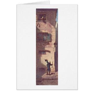 The Beggar Musician By Carl Spitzweg Card