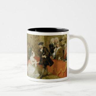 The Beggar's Opera, Scene III, Act XI, 1729 (oil o Two-Tone Mug