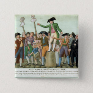 The Beginning of the French Revolution 15 Cm Square Badge