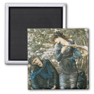 The Beguiling of Merlin Square Magnet
