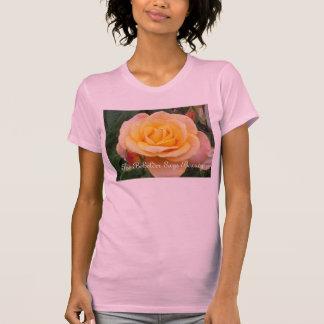 The Beholder Says Beauty- White Rose T-Shirt