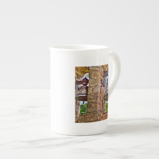 The Bell Tower Antique Stone Arches Bone China Mug