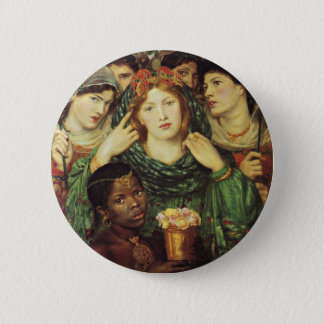The Beloved by Dante Raphael Rossetti 6 Cm Round Badge