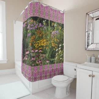 The Bench in the Tent Gardens Shower Curtain