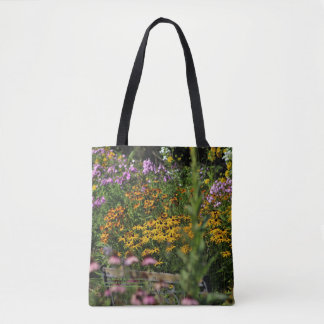 The Bench in the Tent Gardens Tote Bag
