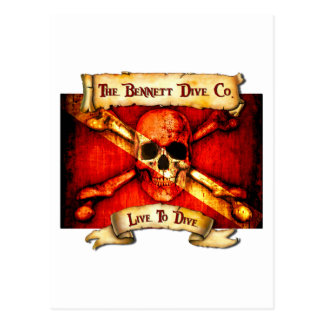 The Bennett Dive Company Flag Post Card