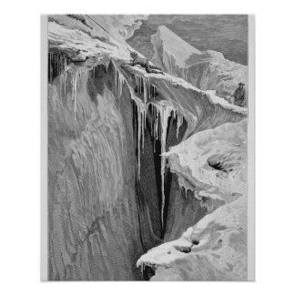 The Bergschrund on the Dent Blanche in 1865, from Poster