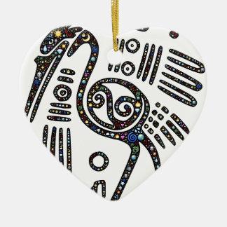 The best bird black and white ceramic heart decoration