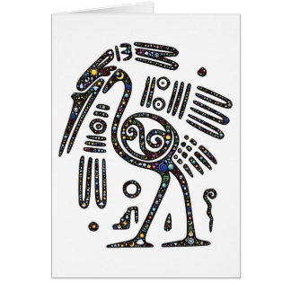 The best bird black and white greeting card