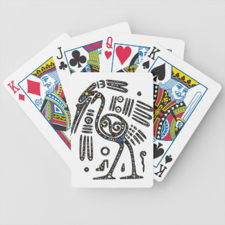 The best bird black and white bicycle playing cards