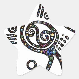 The best bird black and white star sticker