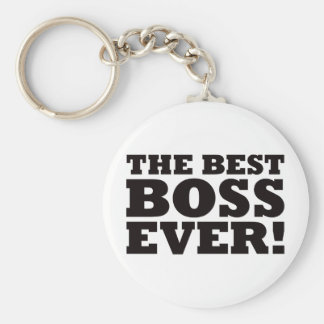The Best Boss Ever Basic Round Button Key Ring