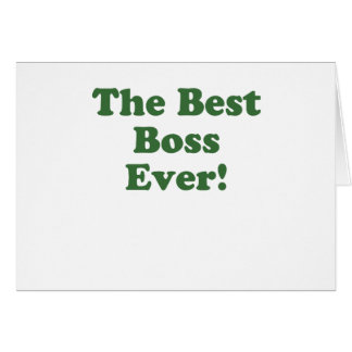 The Best Boss Ever Cards