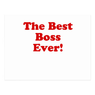 The Best Boss Ever Post Cards