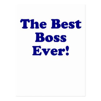The Best Boss Ever Postcard