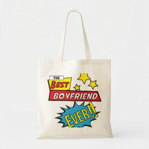 The best boyfriend ever pop art comic book tote bag