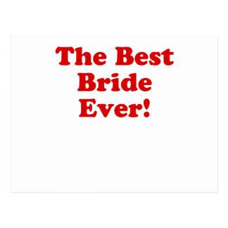 The Best Bride Ever Postcard