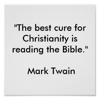 """The best cure for Christianity Poster"