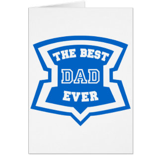 The best dad ever card